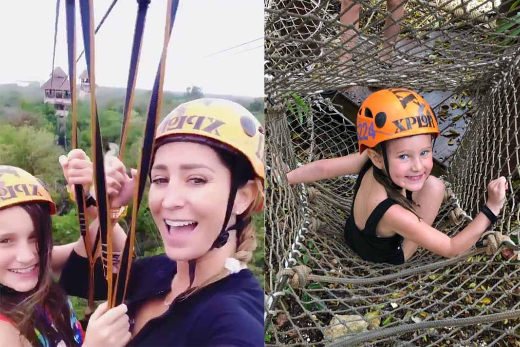 Geraldine y sus hijas vivieron un día de aventura extrema