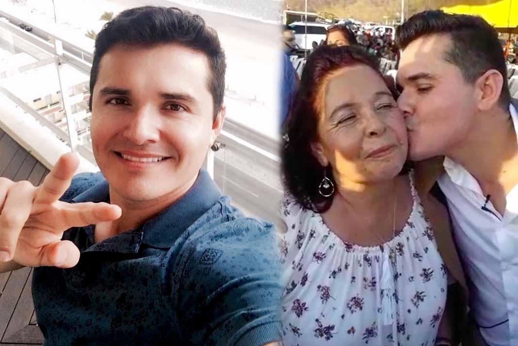 Horacio Palencia le dio un tierno beso a su mamá