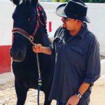 Pepe con Virrey, uno de sus tantos hermosos caballo