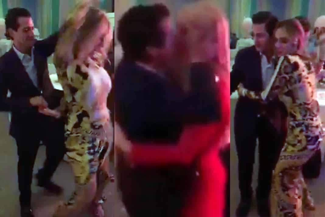 El ex mandatario bailó con una ex Nuestra Belleza Distrito Federal y besó a su novia Tania Ruiz