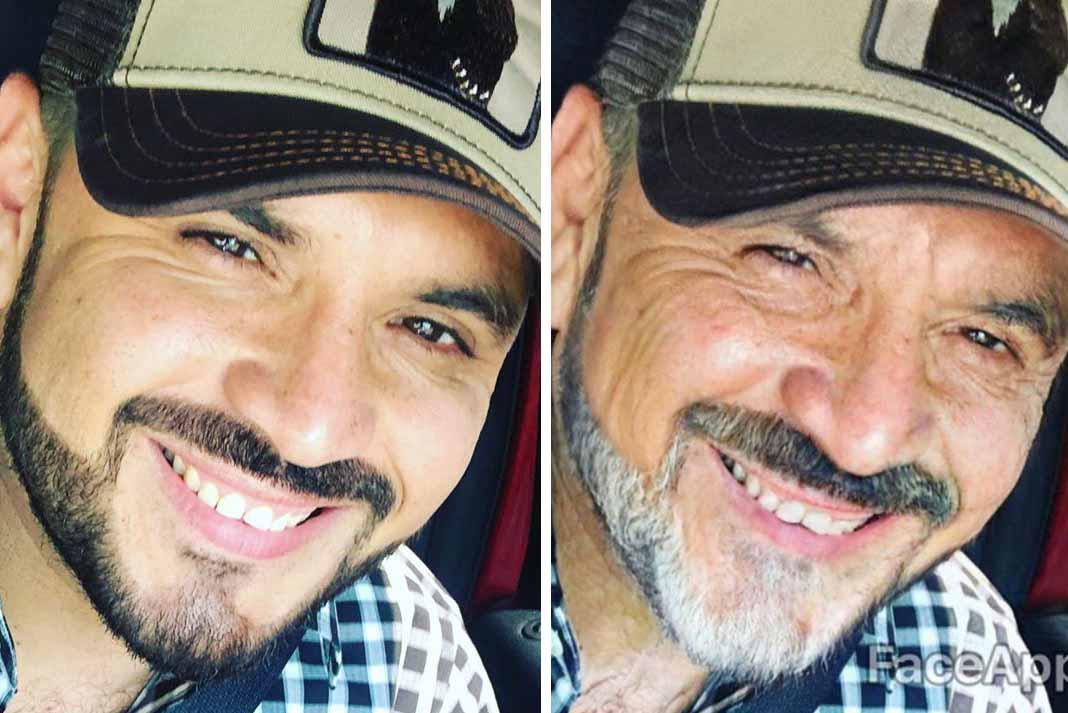 Alfredo Ríos El Komander... ¿Les gusta cómo luciría según esta aplicación? Fotos: Instagram / soyelkomander1