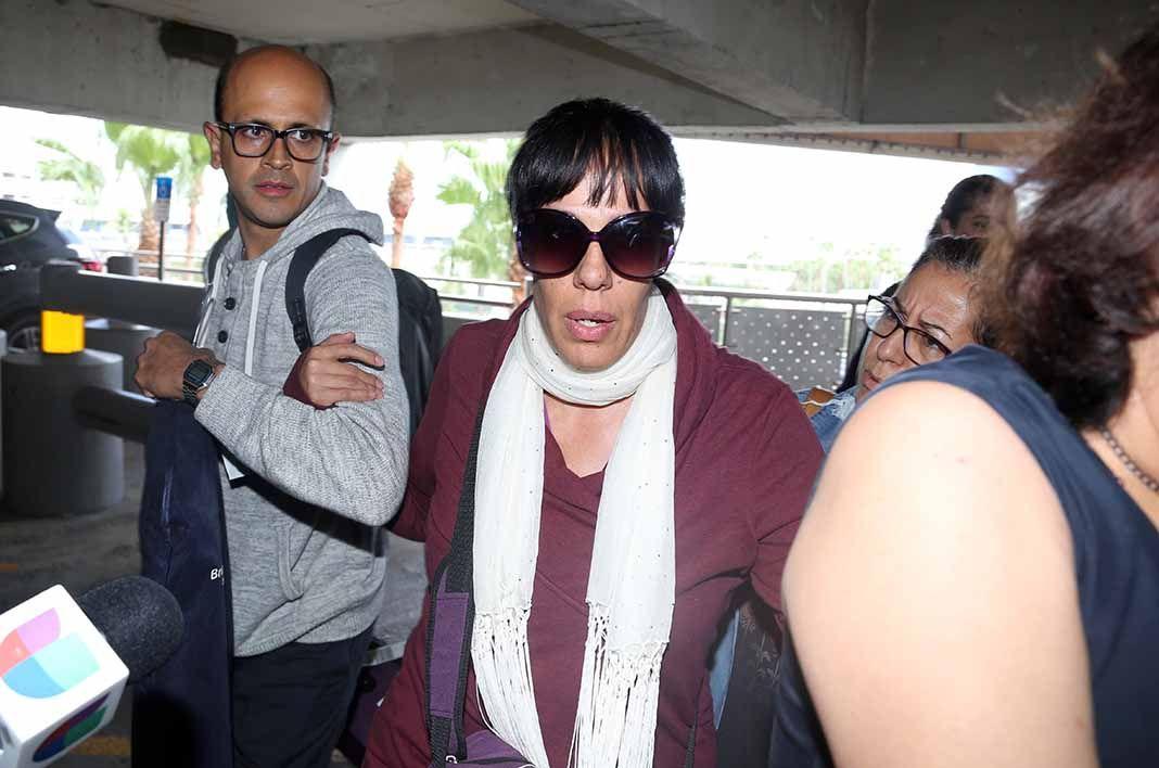 Marysol Sosa llegó a Miami acompañado de su esposo Xavier Ortiz