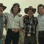 """El cuarteto es interpretado en la serie por Luis Alberti (Lupe), Raúl Sandoval (Ramiro), Yigael Yadin (""""Choche"""") y Baltimore Beltrán (Javier)"""