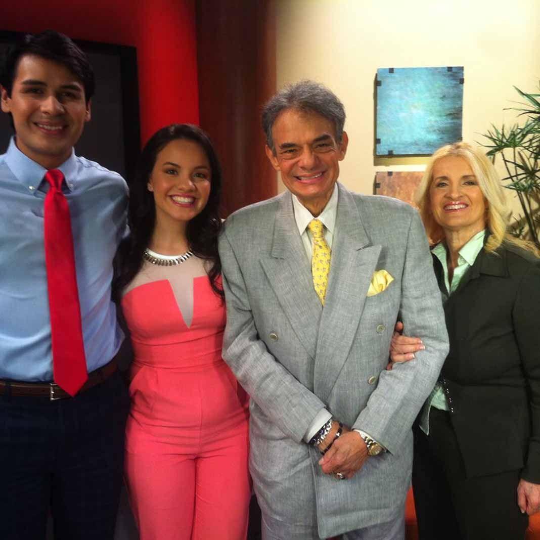 La segunda y última familia de José José: su hija Sarita, su yerno Yimmy Ortiz y su esposa Sara. Foto: Facebook / @SaraSosaOfficial