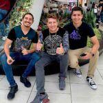 El ex integrante de Bronco con sus dos hijos, que ambos se llaman como él: Ramiro