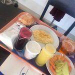 Paquita compartió el desayuno que iba a disfrutar