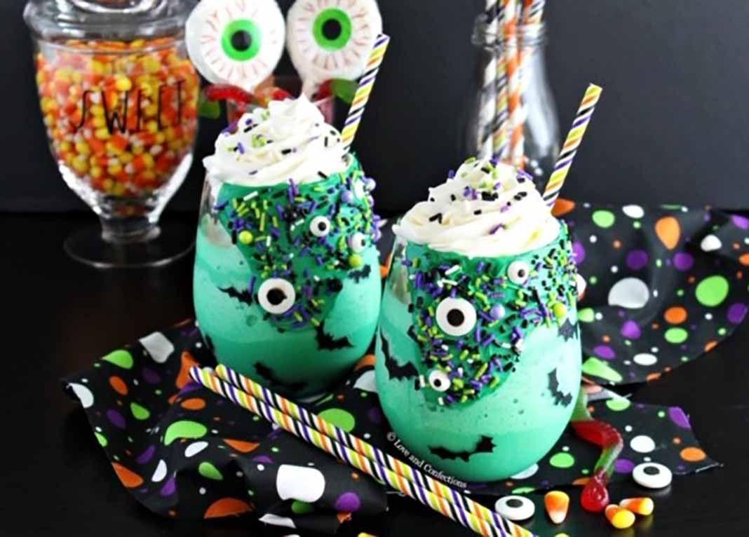 Merengadas monstruo verde para Halloween