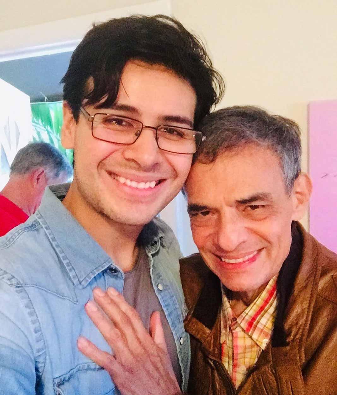 José José y su yerno Jimmy, quien cuidó de él los últimos dos años, hasta su muerte
