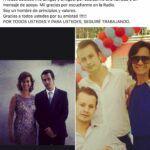 La respuesta del post de Christian Orihuela fue tal que publicó otra foto agradeciendo. Esta vez puso una foto con su hermano fallecido y su mamá