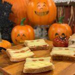 Tostadas de momias (Halloween)