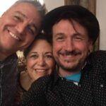 Martín Berlanda, la anfitriona Paty Lavalle y Ricky Luis
