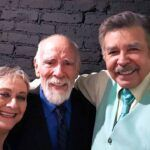 Hace dos años don Aarón compartió en una reunión con sus colegas, los actores Susana Alexander y Jorge Ortiz de Pinedo