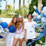 Lili y su hijo Lorenzo celebraron así la graduación de Lina de High School