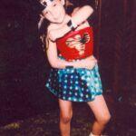 Thalía cuando formó parte del grupo Din, Din, a los 11 años de edad