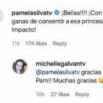 """Pamela le escribió a su compañera Michelle que ya quería consentir a la """"princesa de impacto"""""""