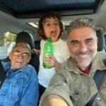 Tres generaciones: Gomís publicó recientemente esta fotografía con su padre y su hijo.