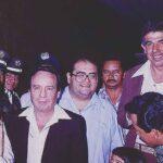 Fans de El Profesor Jirafales compartieron esta foto del elenco de gira en Colombia en 1978