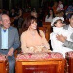 El comediante y Verónica Castro acompañaron a su hijo Cristian Castro en el bautizo de su hija menor Rafaela