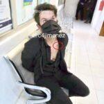 El actor fue captado esposado por la policía, por el reportero Carlos Jiménez, de Radio Fórmula