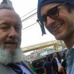 De las pocas fotografías que se han visto de Gael con su padre, durante una visita a México