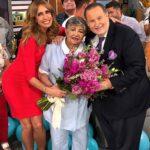 Esta foto de Martica, junto a Raúl y Lili, fue tomada hace poco más de dos años, cuando se retiró de la televisión